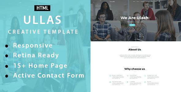 Ullas - Creative Multi-Purpose HTML Template - Creative Site Templates