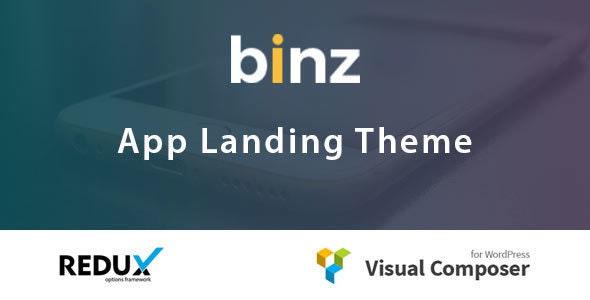 Binz App Landing Theme - Technology WordPress