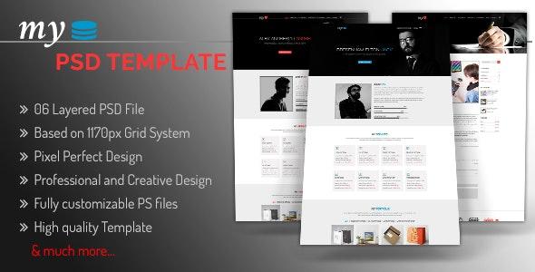 MY - Creative Personal Portfolio PSD Template - Photoshop UI Templates