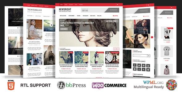 Newsright - WordPress Premium HD News & Magazine - Blog / Magazine WordPress