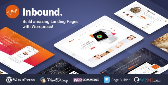 Inbound WordPress Landing Page Theme - Marketing Corporate