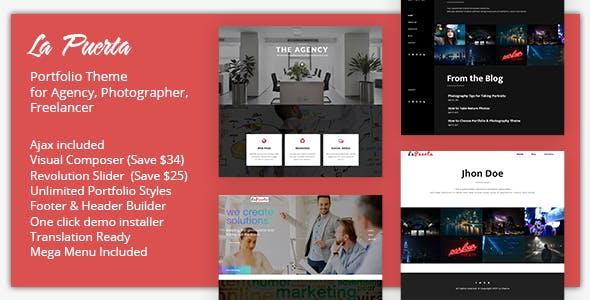 La Puerta - Portfolio & Photography & Agency WordPress Theme
