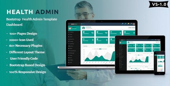 Health Admin - Bootstrap Health Admin Template Dashboard - Admin Templates Site Templates