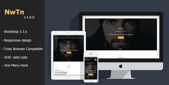 Newton - Resume/CV/vCard Personal Portfolio HTML Template - Resume / CV Specialty Pages