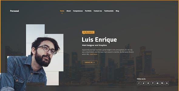 Perzonal - Resume, CV, Portfolio, Blog. PSD Template