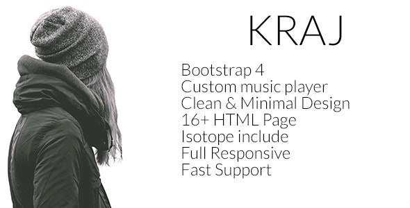 Kraj – Music Band HTML Template - Music and Bands Entertainment