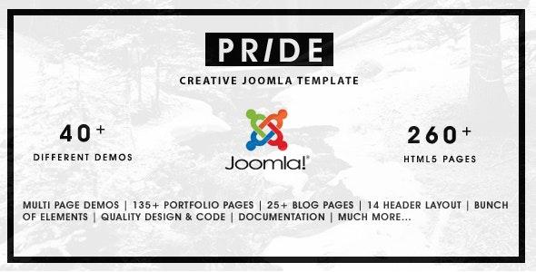 Pride - Multipurpose Joomla Template - Portfolio Creative