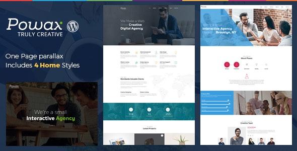 Powax - One Page Parallax WordPress Theme - Creative WordPress