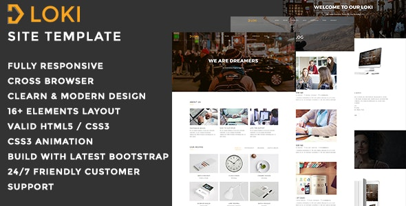 Loki - Multi purpose HTML Template - Business Corporate