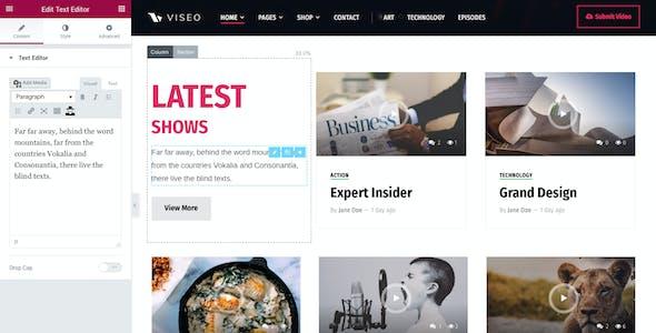 Viseo - News, Video, & Podcast Theme