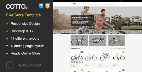 Cotto - Bike Store HTML5 template - Retail Site Templates
