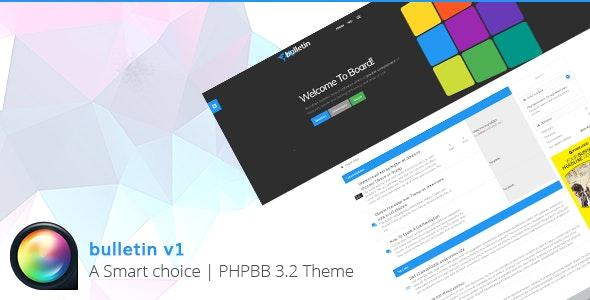 Bulletin - Multipurpose Responsive phpBB 3.2 Theme - PhpBB Forums