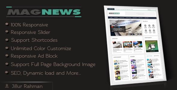 MagNews - Responsive Blogger Template - Blogger Blogging