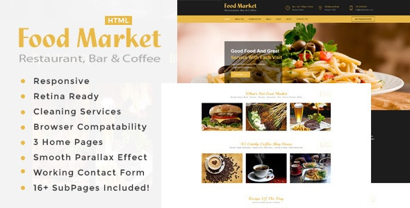 The Food Market | Restaurant HTML Template - Food Retail