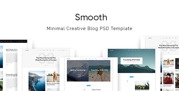 Smooth   Minimal Blog PSD Template - Personal Photoshop