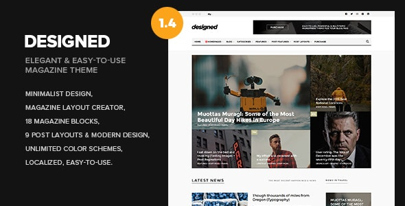 Designed - Newspaper and Blog WordPress Theme - News / Editorial Blog / Magazine