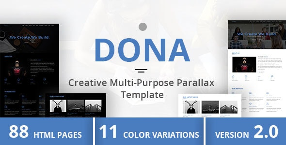DONA - Creative Multi-Purpose Parallax Template - Portfolio Creative