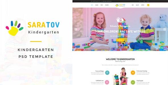 Saratov - Kindergarten PSD Template - Creative Photoshop