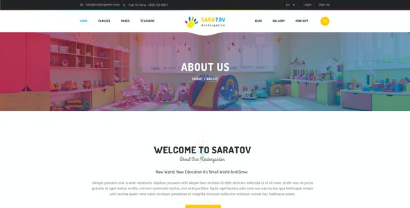 Saratov - Kindergarten PSD Template