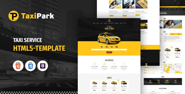TaxiPark - Taxi Cab Service Company HTML5 Template - Corporate Site Templates