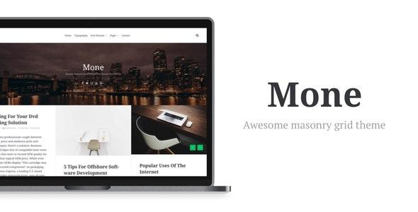Mone - Responsive WordPress blog theme, masonry grid - News / Editorial Blog / Magazine