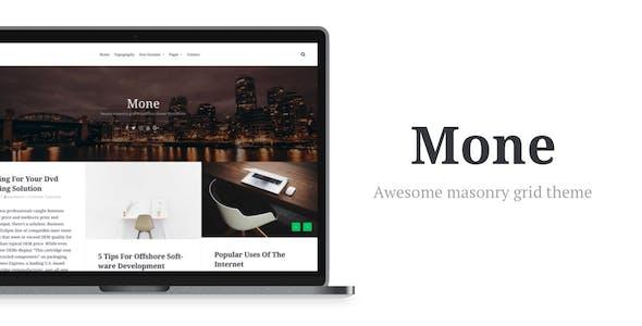 Mone - Responsive WordPress blog theme, masonry grid