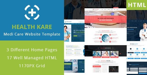 HEALTH KARE - Professional Medi Care HTML Template - Business Corporate