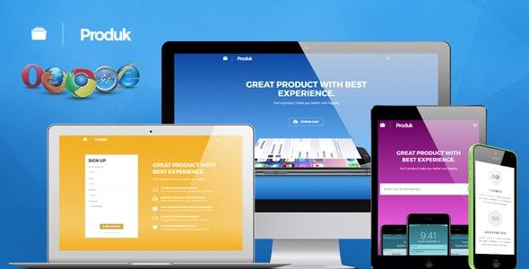 Produk Responsive Showcase Landing Page - Apps Technology