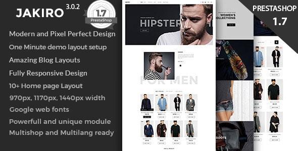 Jakiro Fashion Shop Prestashop 1.6 and 1.7 Theme - Fashion PrestaShop