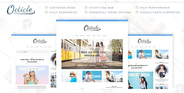 Octicle - Personal WordPress Blog Theme - Personal Blog / Magazine