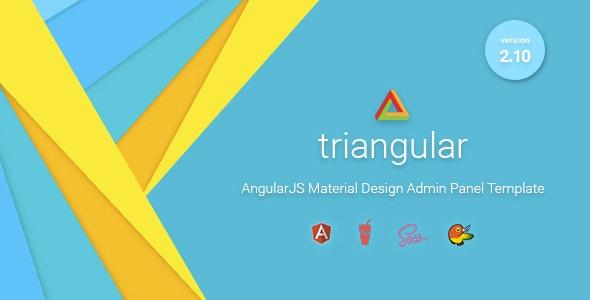 Triangular - Material Design Admin Template AngularJS - Admin Templates Site Templates