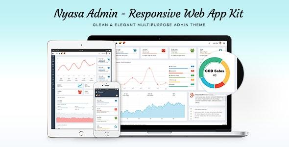Nyasa Responsive Admin UI Template - Admin Templates Site Templates