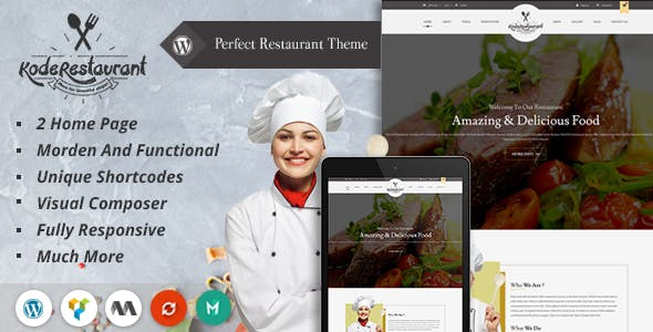 Food Court Restaurant WordPress Theme