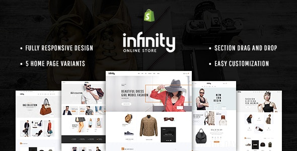 Infinity - Multipurpose Responsive Shopify Theme with Section Drag & Drop - Fashion Shopify