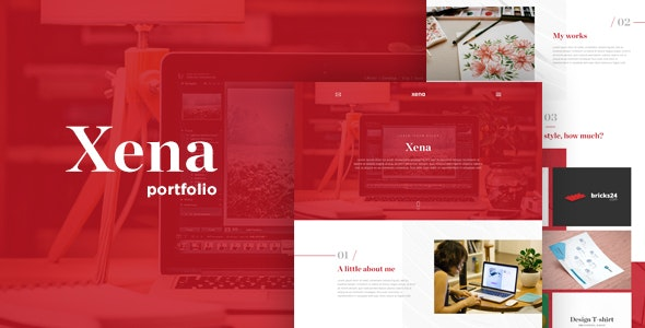 XENA - A Creative OnePage WebsiteTemplate for Freelancer & Agencies - Business Corporate