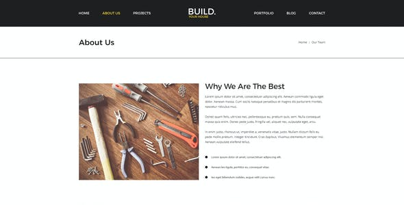 Build Your House | Construction PSD Template