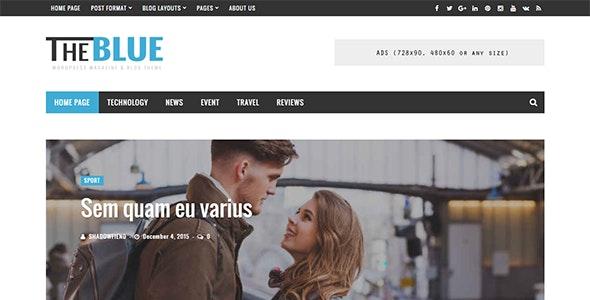 The Blue - Responsive WordPress Magazine and Blog Theme - News / Editorial Blog / Magazine