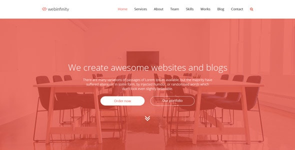 Webinfinity - PSD Agency And Startups Template - Business Corporate