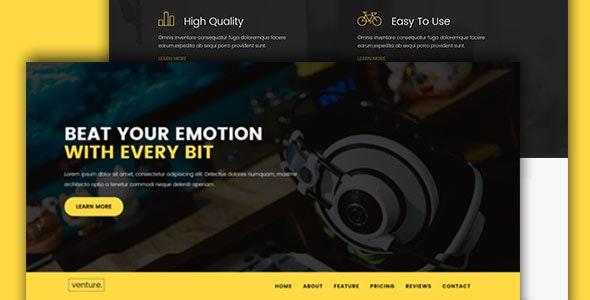 Venture-Single Product Landing Template - Technology Site Templates