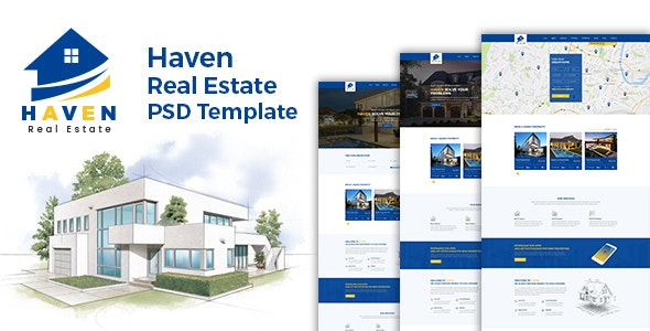 Haven - Real Estate PSD Template - Business Corporate