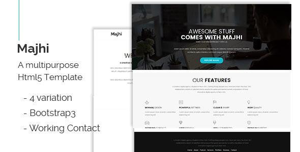 Majhi-creative multipurpose template - Creative Site Templates