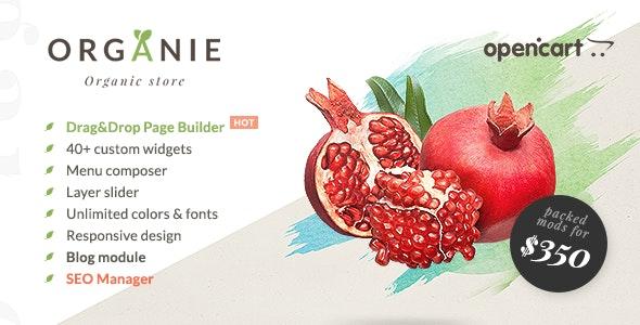Organie - Organic Store, Farm, Plant & Flower Shop OpenCart Theme - OpenCart eCommerce