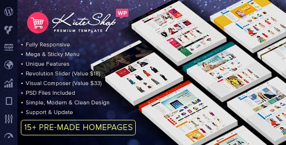 KuteShop - Fashion, Electronics & Marketplace WooCommerce Theme (RTL Supported) - WooCommerce eCommerce