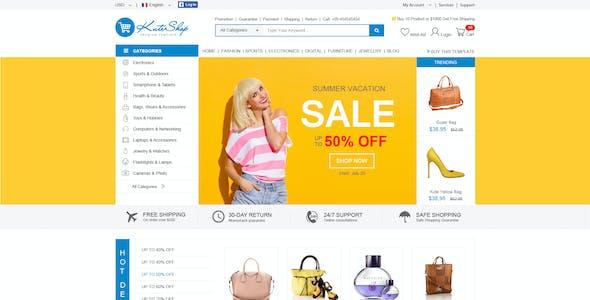 KuteShop - Fashion, Electronics & Marketplace Elementor WooCommerce Theme (RTL Supported)