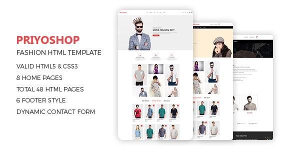 Priyoshop - Fashion Store HTML Template - Fashion Retail