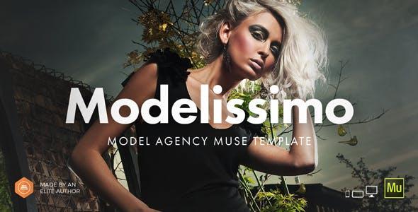 Modelissimo - Model Agency / Fashion Portfolio Onepage Muse Template