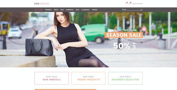 RAB - Fashion eCommerce HTML5 Template