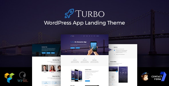 Turbo - Responsive App Landing WordPress Theme - Software Technology