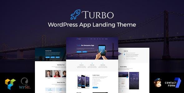 Turbo - Responsive App Landing WordPress Theme