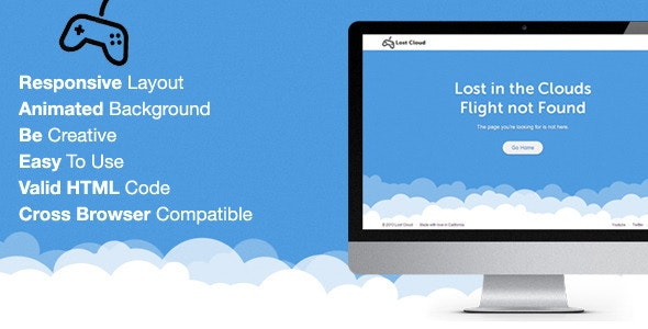 Lost - Responsive 404 Error Template - 404 Pages Specialty Pages